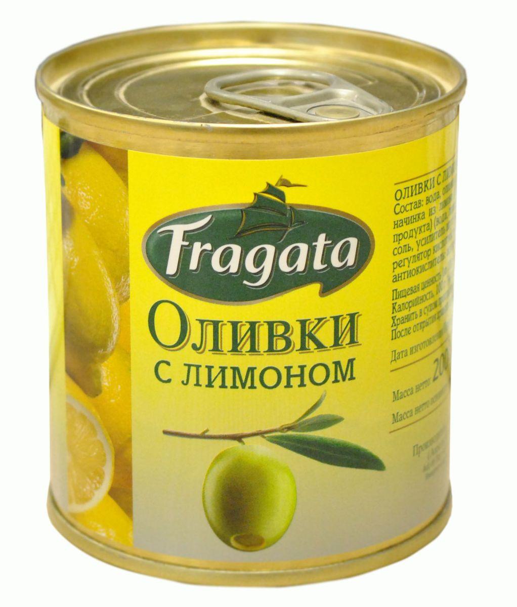Fragata оливки с лимоном, 200 г оливки чёрные pikarome с косточкой в рассоле 3 2 кг