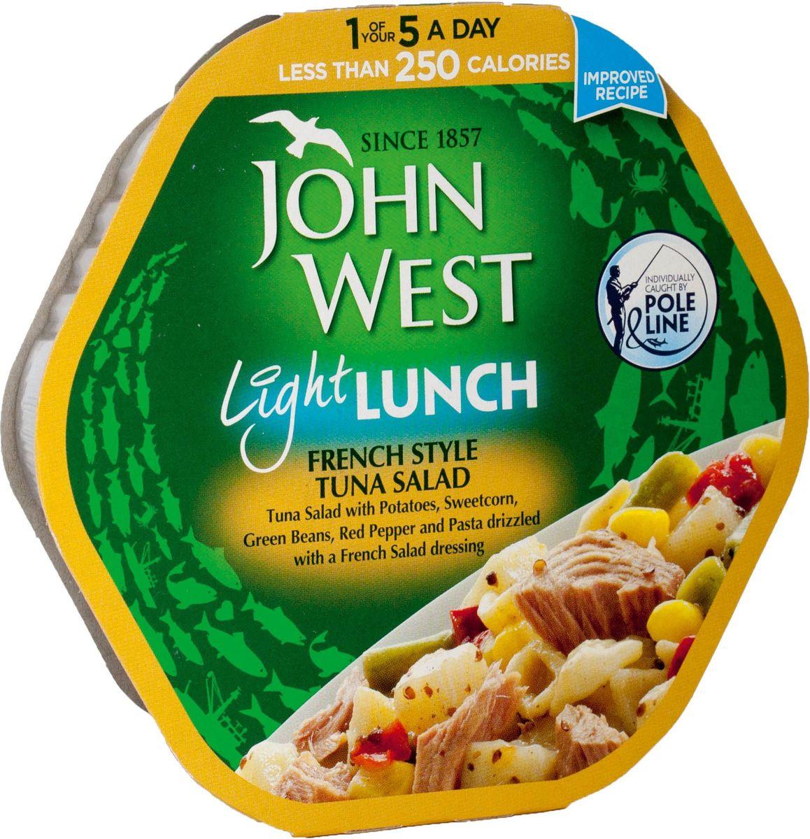 John West легкий обед с тунцом французский, 220 г морепродукты рыба