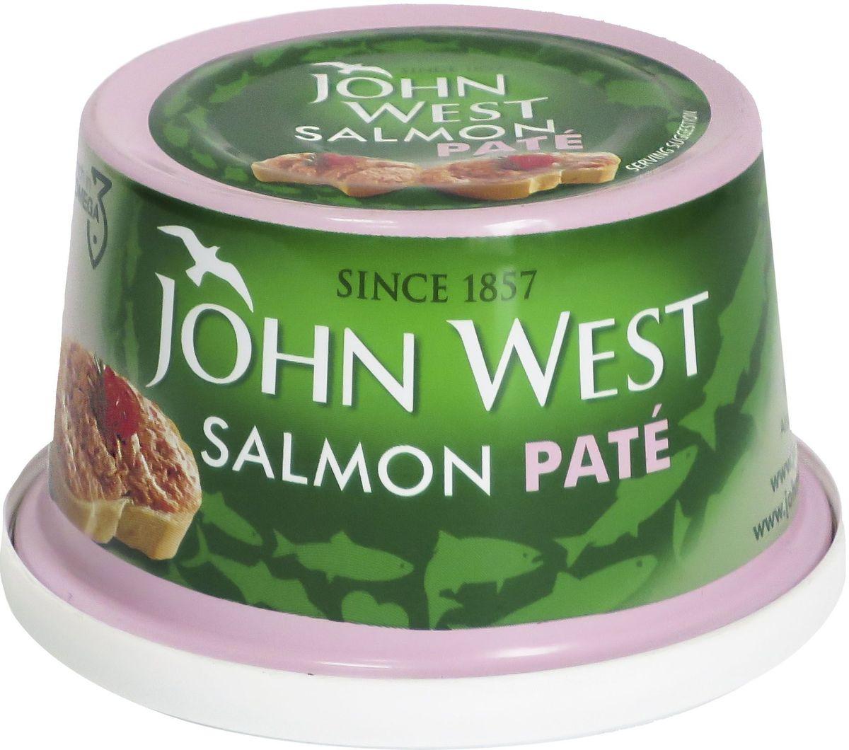 John West паштет из лосося, 125 г64806Паштет из лосося с добавлением специй отличается деликатным вкусом.