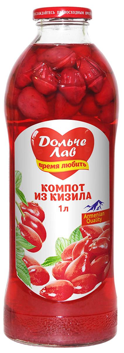 Дольче Лав компот из кизила, 1 л0105112062310006Компот Дольче изготовлен исключительно из натурального сырья, выращенного на территории Армении.