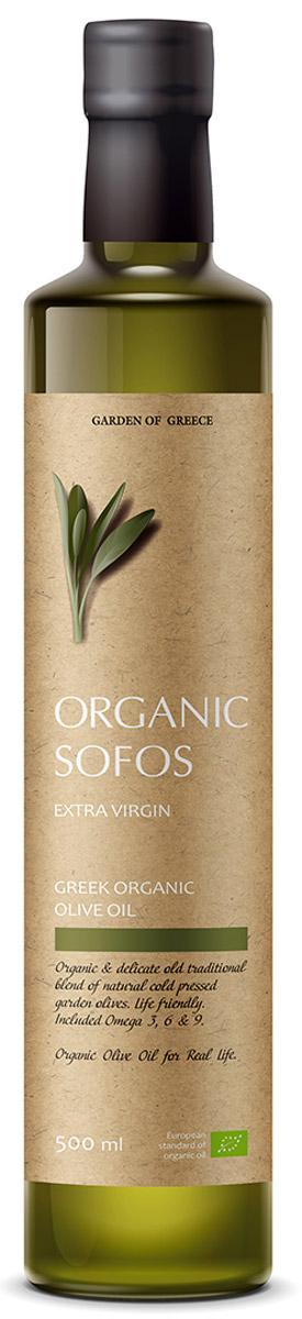Sofos Organic Extra Virgin масло оливковое нерафинированное, 500 мл (Греция)0601813032450007Масло Organic Sofos (Греция): бесподобный аромат и оригинальный вкус! Масло сделано из зрелых оливок, правильно выращенных на лучших плантациях Греции. Первый холодный отжим дарит маслу терпкий аромат и тонкий вкус с нотками специй. Продукт успешно используется в кулинарии и косметологии. Organic Sofos (Греция) дарит новые ощущения настоящей жизни! Для удовольствия, бодрости, благополучия! Оливковое масло Organic Sofos – премиальный продукт по цене обычного.Полезный, привлекательный! Нужный!