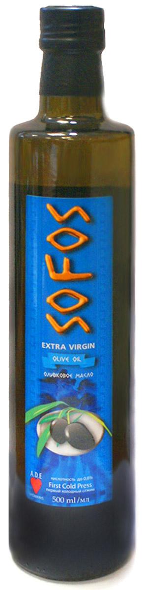Sofos Extra Virgin масло оливковое для заправки салатов, 500 мл0601813032460001Масло Sofos Extra Virgin - идеально для свежих салатов, макарон и каши. Интересное предложение для истинных гурманов! Оливковое масло Extra Virgin - продукт высшей категории, полученный при первом отжиме оливок: - Тонко подчёркивает вкус свежих овощей и зелени в салатах. - Служит отличным дополнением к пицце, молочным кашам, блюдам из макарон. - Сохраняет все важные компоненты, улучшающие обмен веществ, состояние кожи, сердечно-сосудистой и пищеварительной систем.- Обладает терпким привкусом и приятным ароматом. Sofos Extra Virgin - для здоровья и наслаждения. Кислотность до 0,8%.Уважаемые клиенты!Обращаем ваше внимание на возможные изменения в дизайне упаковки. Качественные характеристики товара остаются неизменными. Поставка осуществляется в зависимости от наличия на складе.