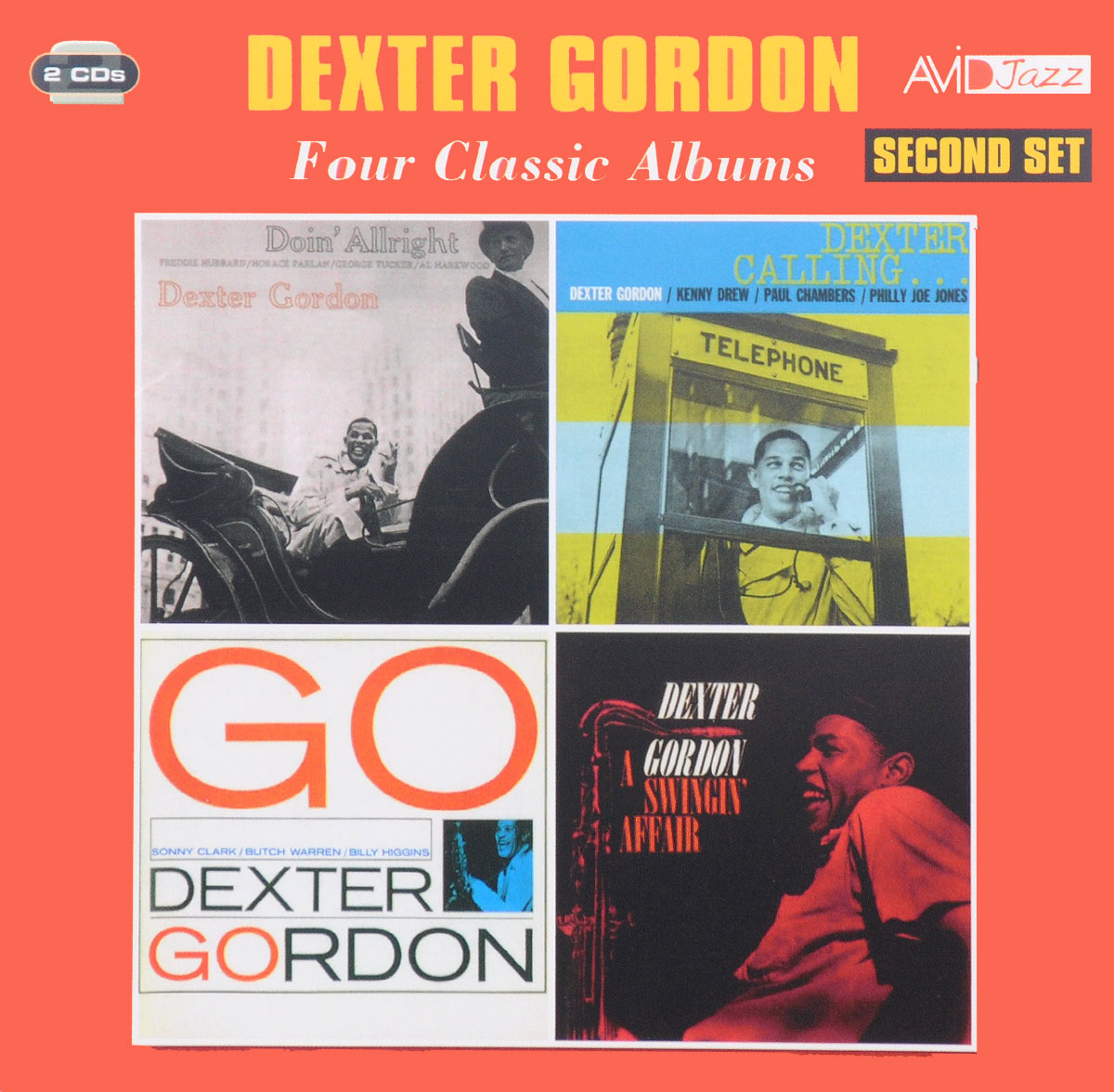 Декстер Гордон Avid Jazz. Dexter Gordon. Four Classic Albums. Second Set (2 CD) декстер гордон dexter gordon our man in paris