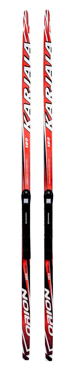 Беговые лыжи Karjala Orion Wax, с креплением NNN, цвет: красный, рост 200 см лыжи беговые tisa top universal с креплением цвет желтый белый черный рост 182 см