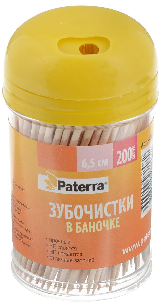 Зубочистки Paterra, 6,5 см, цвет: в ассортименте, 200 шт зубочистки 50 x bi1u