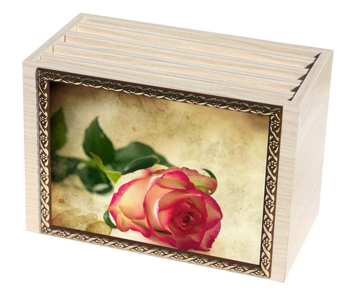 Фотобокс Milarte, 96 фотографий, 16 х 9 х 22 см. FBVD-119002FBVD-119002Фотобокс Milarte поможет аккуратно и стильно хранить ваши фотографии. Фотобокс выполнен из МДФ цвета выбеленный дуб. Изображение нанесено с лицевой стороны на корпус и обрамлено пластиковой рамкой с узором. Фотобокс содержит 4 вынимающиеся вкладки с ПВХ-карманами для фото, по 24 штуки каждая. Стильный и красивый фотобокс не только отлично дополнит интерьер, но и станет чудесным подарком к любому случаю, который обязательно порадует получателя. Размер изображения: 16 х 11 см.