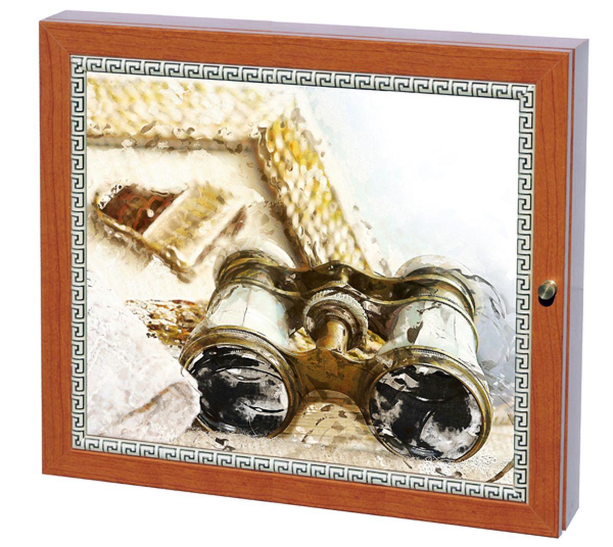 Вешалка-ключница Milarte Фэй, 25 х 30 х 5,5 см. KFV-116012KFV-116012Вешалка-ключница Milarte Фэй, выполненная из МДФ, украсит интерьер помещения, а также поможет создать атмосферу уюта. Ключница, декорированная оригинальным изображением, станет не только украшением вашего дома, но и послужит функционально. Она представляет собой ящичек, внутри которого предусмотрено 9 металлических крючков для ключей в два ряда. Дверца фиксируется к корпусу на крючок. Вешалка-ключница подвешивается на стену, крепежные элементы входят в комплект.Размер изображения: 24 х 19 см.
