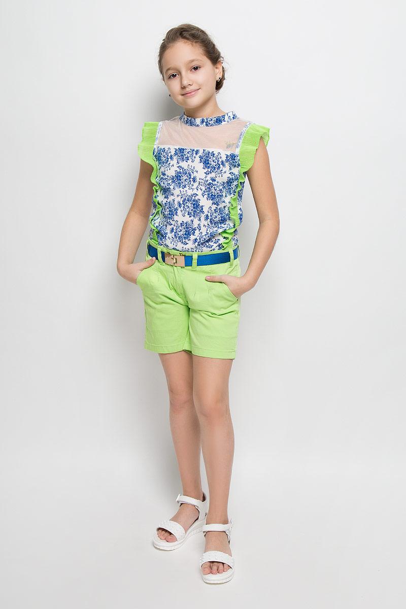 Шорты для девочки Nota Bene, цвет: салатовый. SS162G405-13. Размер 128