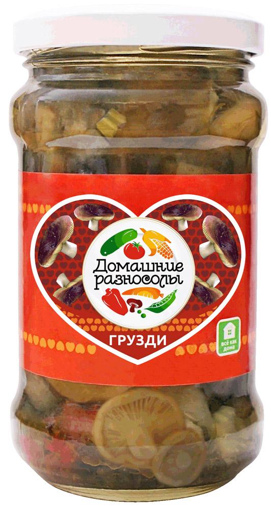 Домашние разносолы грузди, 314 мл домашние разносолы салат линевский 500 г