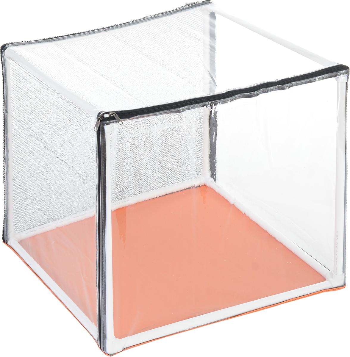 Клетка для животных Elite Valley Аквариум, выставочная, цвет: прозрачный, оранжевый, белый, 76 х 56 х 56 смК-13/2_прозрачный, оранжевый, белыйКлетка Elite Valley Аквариум предназначена для показа кошек и собак на выставках.Она выполнена из плотного текстиля, каркас - пластиковые трубки. Клетка оснащенасъемной пленкой и съемной сеткой. Клетка быстро собирается и разбирается. В комплекте сумка-чехол для удобной транспортировки.