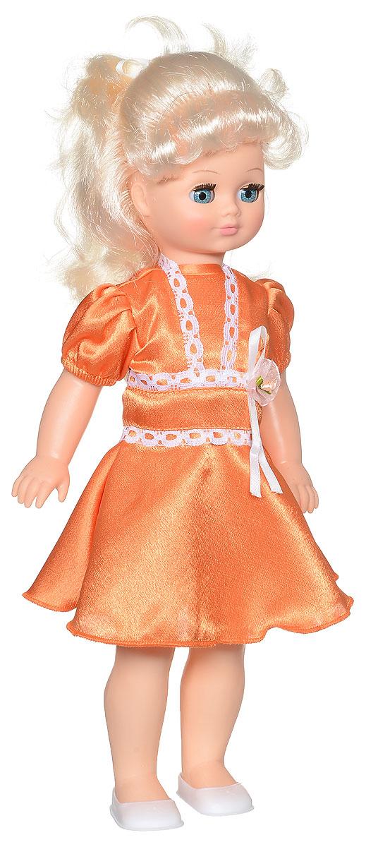 Весна Кукла озвученная Лиза цвет платья оранжевый белый