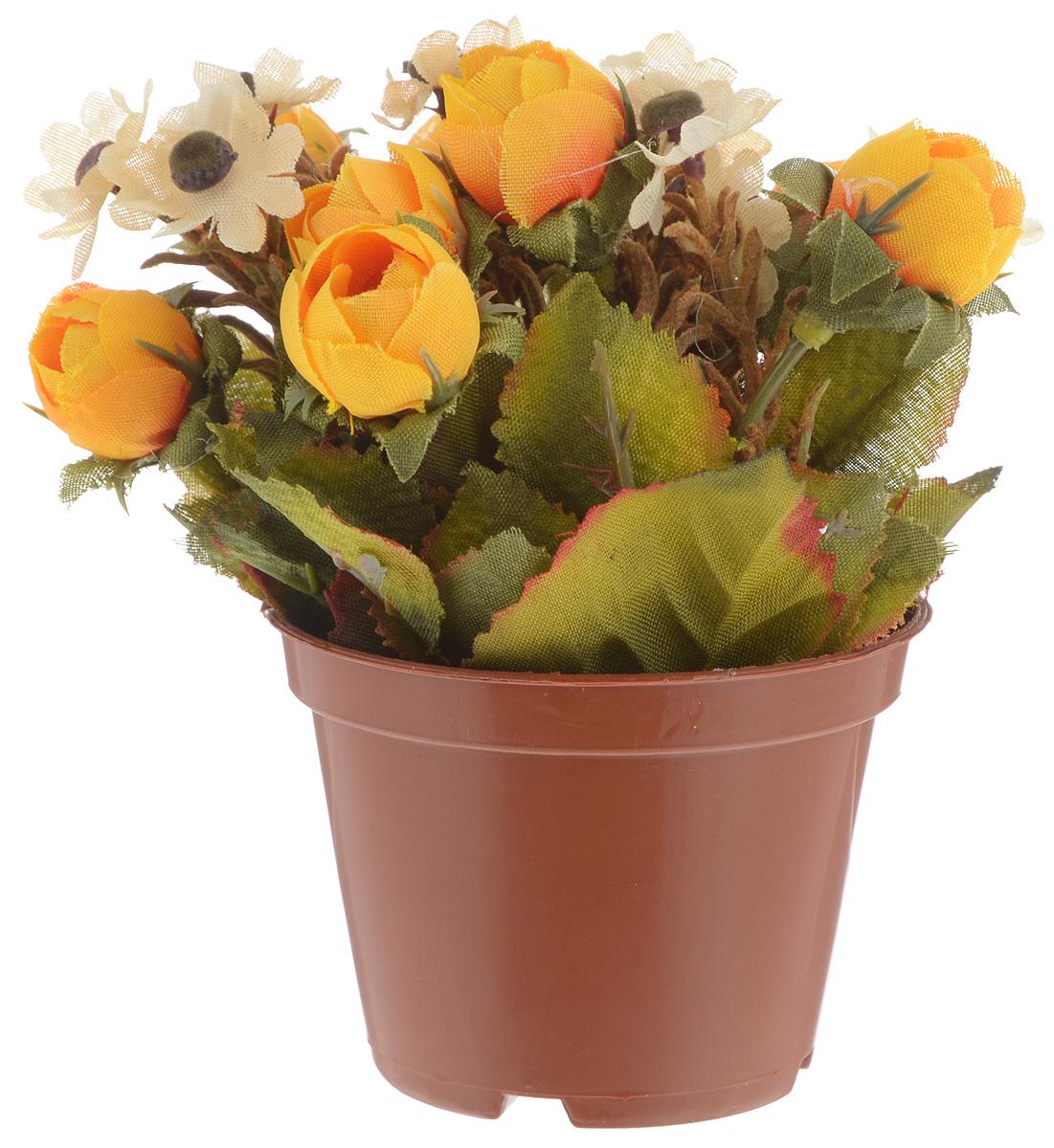 Растение искусственное для мини-сада Bloomits, цвет: желтый, зеленый, коричневый, высота 13 см804833_желтый, белыйИскусственное растение Bloomits поможет создать свой собственный мини-сад. Заниматься ландшафтным дизайном и декором теперь можно, даже если у вас нет своего загородного дома, причем не выходя из дома. Устройте себе удовольствие садовода, собирая миниатюрные фигурки и составляя из них различные композиции. Объедините миниатюрные изделия в емкости (керамический горшок, корзина, деревянный ящик или стеклянная посуда) и добавьте мини-растения. Это не только поможет увлекательно провести время, раскрывая ваше воображение и фантазию, результат работы станет стильным и необычным украшением интерьера.