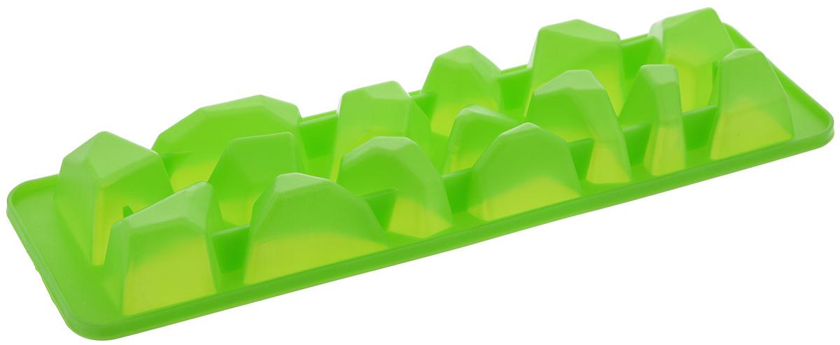 """Форма для льда Paterra """"Айсберг"""", цвет: зеленый, 15 ячеек"""
