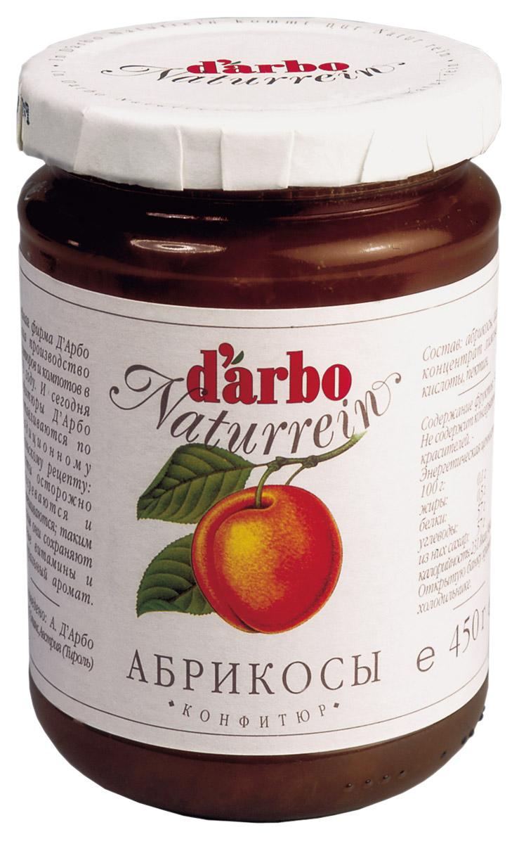 Darbo конфитюр абрикос, 450 г конфитюр zuegg экстра абрикос 320г