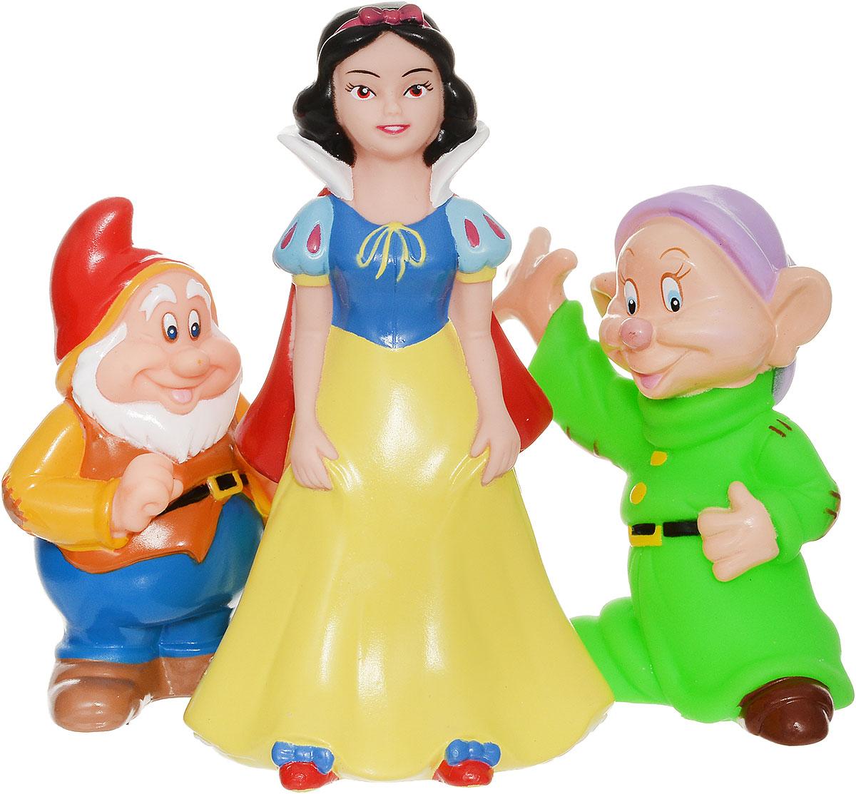 Играем вместе Набор игрушек для ванной Белоснежка и гномы 3 шт играем вместе набор игрушек для ванной корабль и самолет
