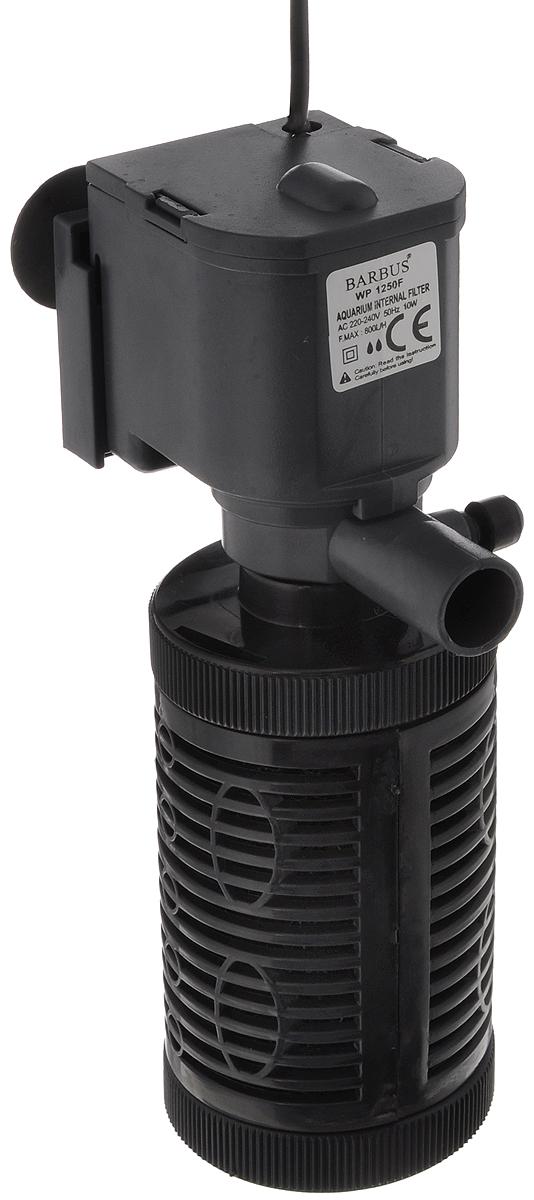 Фильтр аквариумный внутренний Barbus, стаканного типа, 800 л/ч, 10 Вт помпа для аквариума barbus led 088 водяная с индикаторами led 800 л ч 15 вт