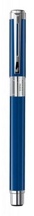 Waterman Ручка роллер PerspeCTive Blue CT черная корпус синийWAT-1904578Материал корпуса: Латунь Покрытие корпуса: Лак Материал отделки деталей корпуса: Никель-палладий Способ подачи стержня: С колпачком. Чернила чернила F.