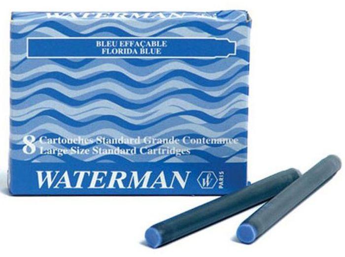 Waterman Катридж для ручки Long цвет синий 8 штWAT-S0110860Картридж с чернилами Waterman предназначен для перьевой ручкиLоng. Картридж имеет цвет синий. Всего в упаковке 8 картриджей.Уважаемые клиенты! Обращаем ваше внимание на то, что упаковка может иметь несколько видов дизайна. Поставка осуществляется в зависимости от наличия на складе.