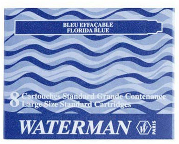 Waterman Катридж для ручки Short цвет синий 6 шт ручки waterman w1904558