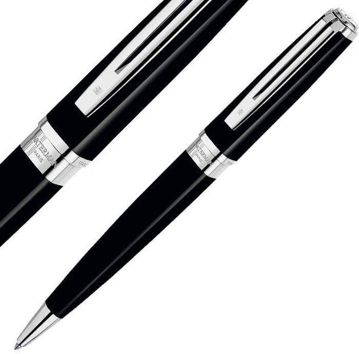 Waterman Ручка шариковая Exception Slim Black Сt синяя корпус черный серебро waterman шариковая ручка waterman s0920470