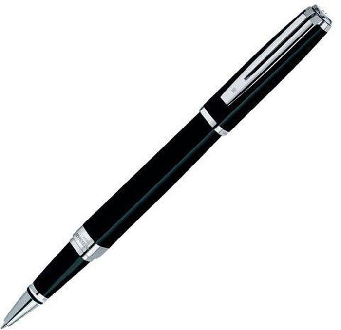Waterman Ручка роллер Exception Slim Black CT черная корпус черныйWAT-S0637070Материал корпуса: ЛатуньПокрытие корпуса: ЛакМатериал отделки деталей корпуса: ПосеребрениеСпособ подачи стержня: С колпачком