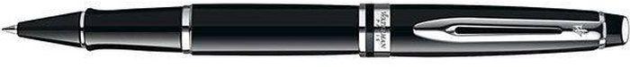 Waterman Ручка роллер Expert Black CT черная корпус черный сереброWAT-S0951780Материал корпуса: ЛатуньПокрытие корпуса: ЛакМатериал отделки деталей корпуса: ПалладийСпособ подачи стержня: С колпачком. Черные чернила F.