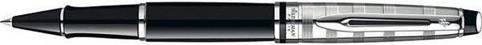 Waterman Ручка роллер Expert Deluxe Black CT черная корпус черныйWAT-S0952340Материал корпуса: ЛатуньПокрытие корпуса: ЛакМатериал отделки деталей корпуса: Никель-палладийСпособ подачи стержня: С колпачком. Чернила чернила F.