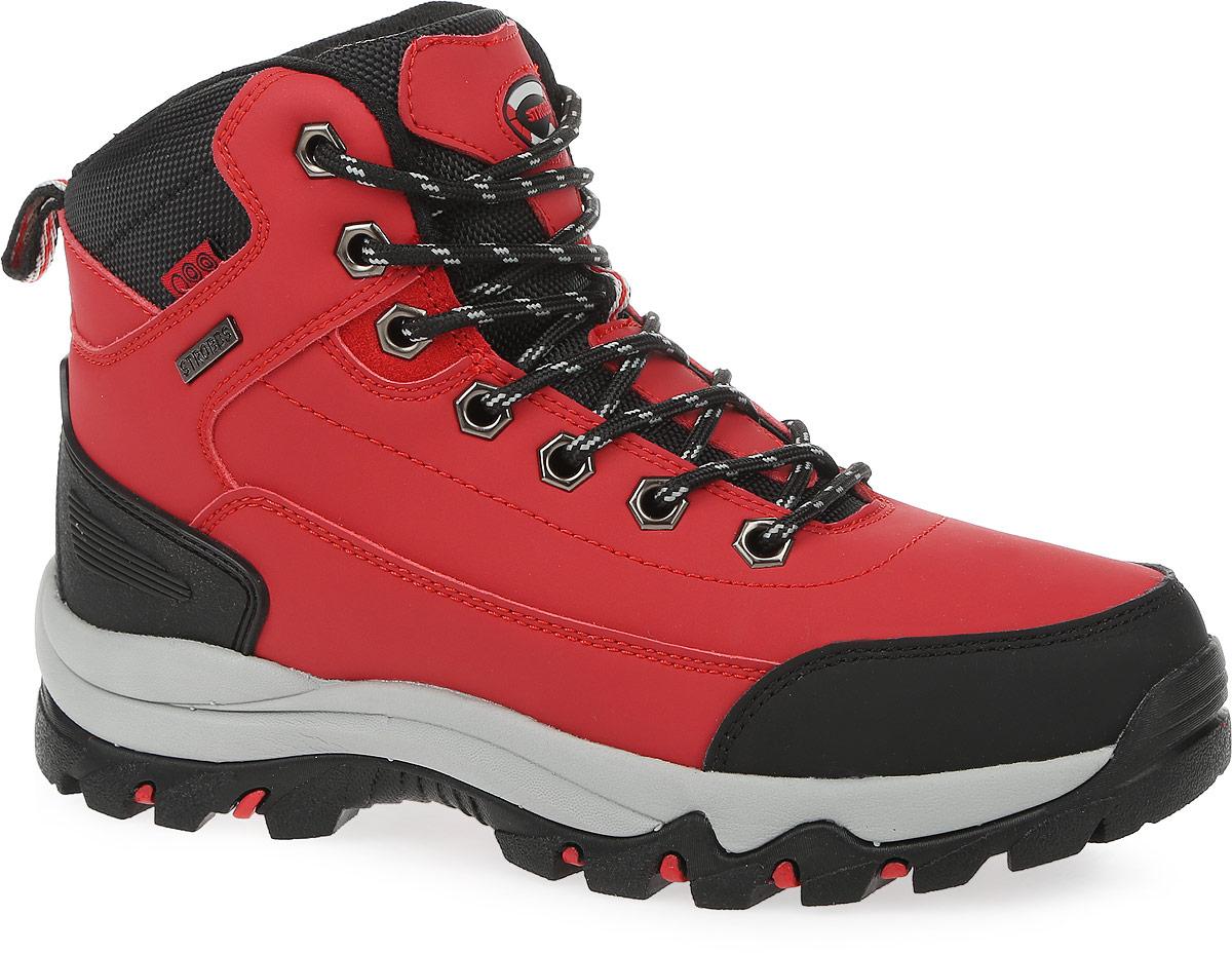 Ботинки женские Strobbs, цвет: красный, черный. F8165-11. Размер 36F8165-11Стильные ботинки от Strobbs придутся вам по душе. Модель изготовлена из искусственной кожи. Подкладка и стелька, выполненные из искусственного меха, не дадут ногам замерзнуть. Шнуровка надежно фиксирует модель на ноге. Ярлычок на заднике обеспечивает удобное обувание модели. Подошва с протектором гарантирует идеальное сцепление на любой поверхности. Стильные и удобные ботинки - необходимая вещь в вашем гардеробе.