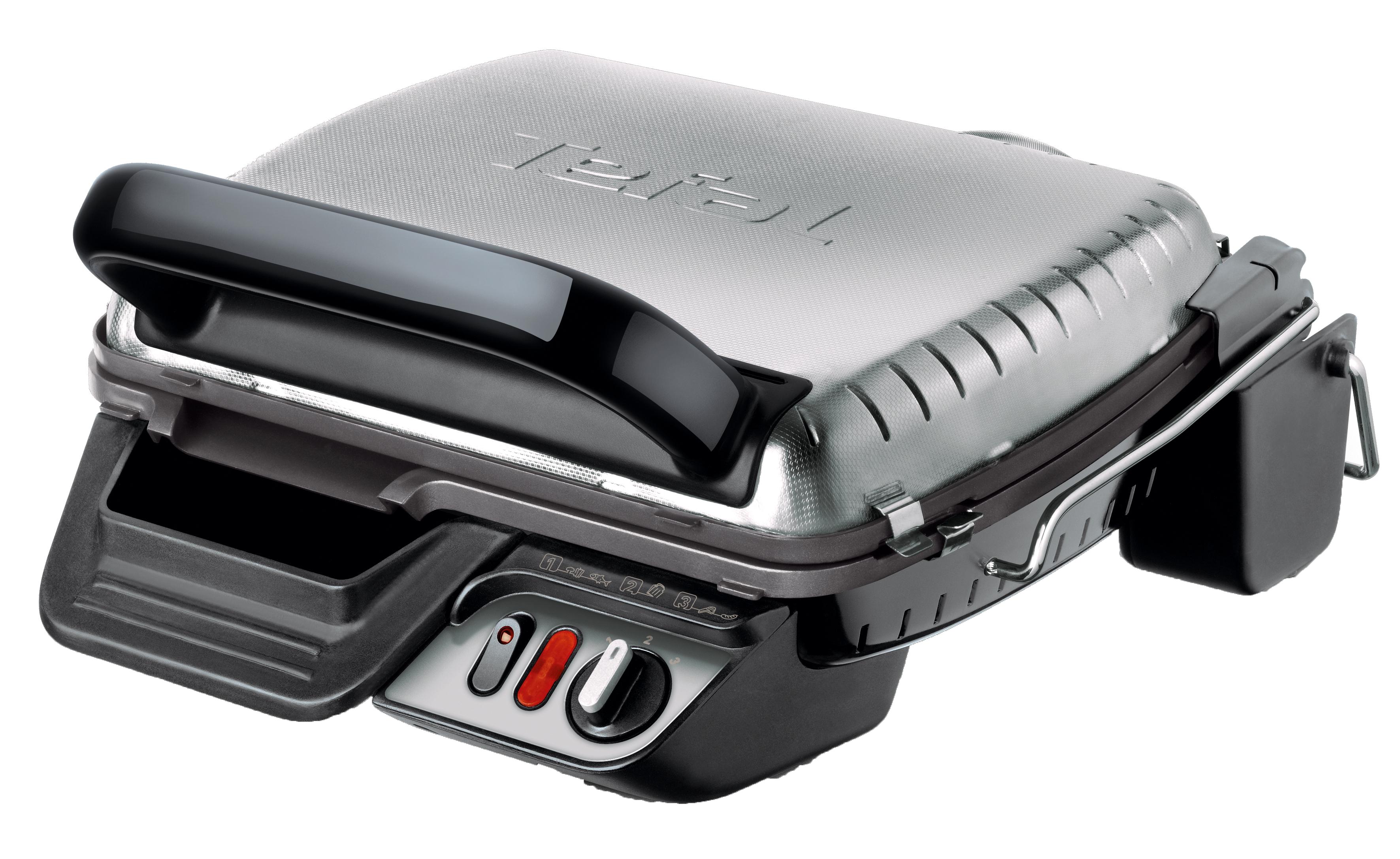Tefal GC306012 Health Grill Comfort электрогрильGC306012Контактный гриль Health Grill Comfort имеет 3 температурных режима нагрева для приготовления разнообразных продуктов и достижения различныхстепеней прожаркиCверхбыстрое приготовление: благодаря равномерному двустороннему нагреву продукты готовятся в 2 раза быстрее. Мясо, рыба, овощи, морепродукты, горячие бутерброды будут готовы за считанные минуты. Экономит Ваше время3 положения: гриль, барбекю и «печь» - подходит для разогрева пиццы, пирогов. Гриль оснащен съемными пластинами с антипригарным покрытием: позволяет готовить без масла - полезная еда.Сок и жир стекают в специальный поддон для сбора жидкости.Пластины и поддон легко мыть в посудомоечной машине. Прибор можно хранить компактно в вертикальном положении. Большой плюс для маленькой кухни