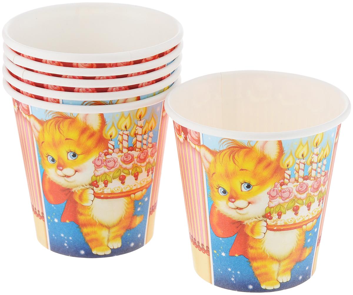 Набор бумажных стаканов Paterra Детский праздник, 250 мл, 6 шт401-470Удобные и практичные стаканы Paterra Детский праздник со стильным дизайном созданы специально для детского праздника. Набор состоит из 6 стаканов. Они ярко украсят стол и привлекут внимание всех участников торжества. Одноразовые бумажные стаканы прекрасно удерживают напитки, почти невесомы, не могут разбиться, их не надо мыть. Диаметр стакана: 8 см. Высота стакана: 8 см.