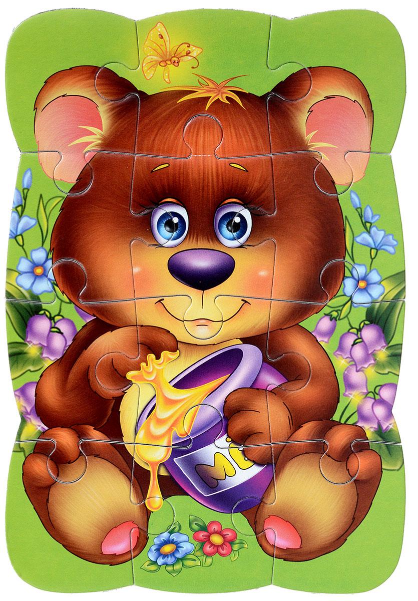 Vladi Toys Пазлы на магните Медвежонок павлин мягкие пазлы