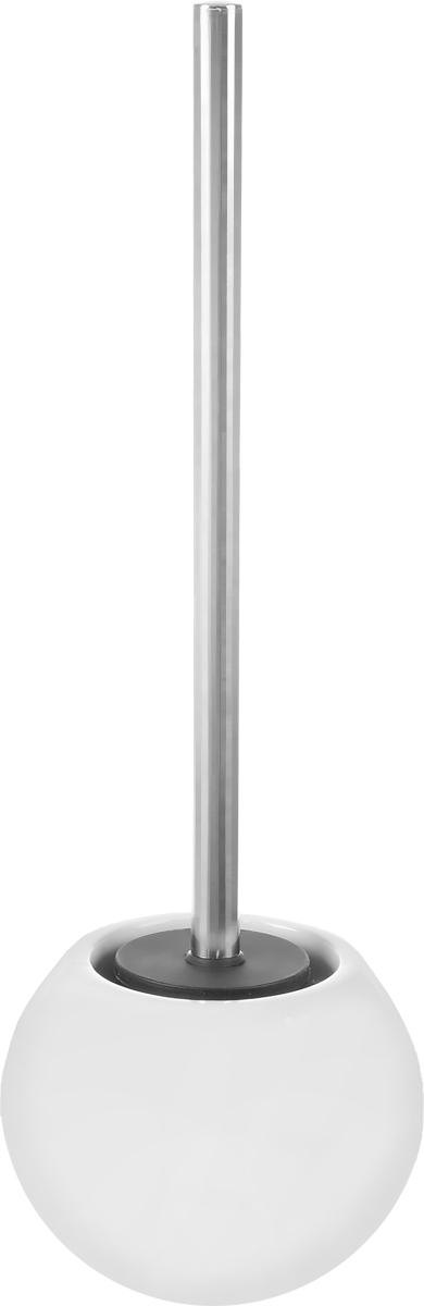 Ершик для унитаза Ridder Bowl, с подставкой, цвет: белый22240401Ершик для унитаза Ridder Bowl выполнен из нержавеющей стали с хромированным покрытием и оснащен жесткимворсом. Подставка, выполненная из керамики, с устойчивым основанием непозволяет ершику опрокинуться. Ершик отличночистит поверхность, а грязь с него легко смываетсяводой.Стильный дизайн изделия притягивает взгляд ипрекрасно подойдет к интерьеру туалетнойкомнаты.