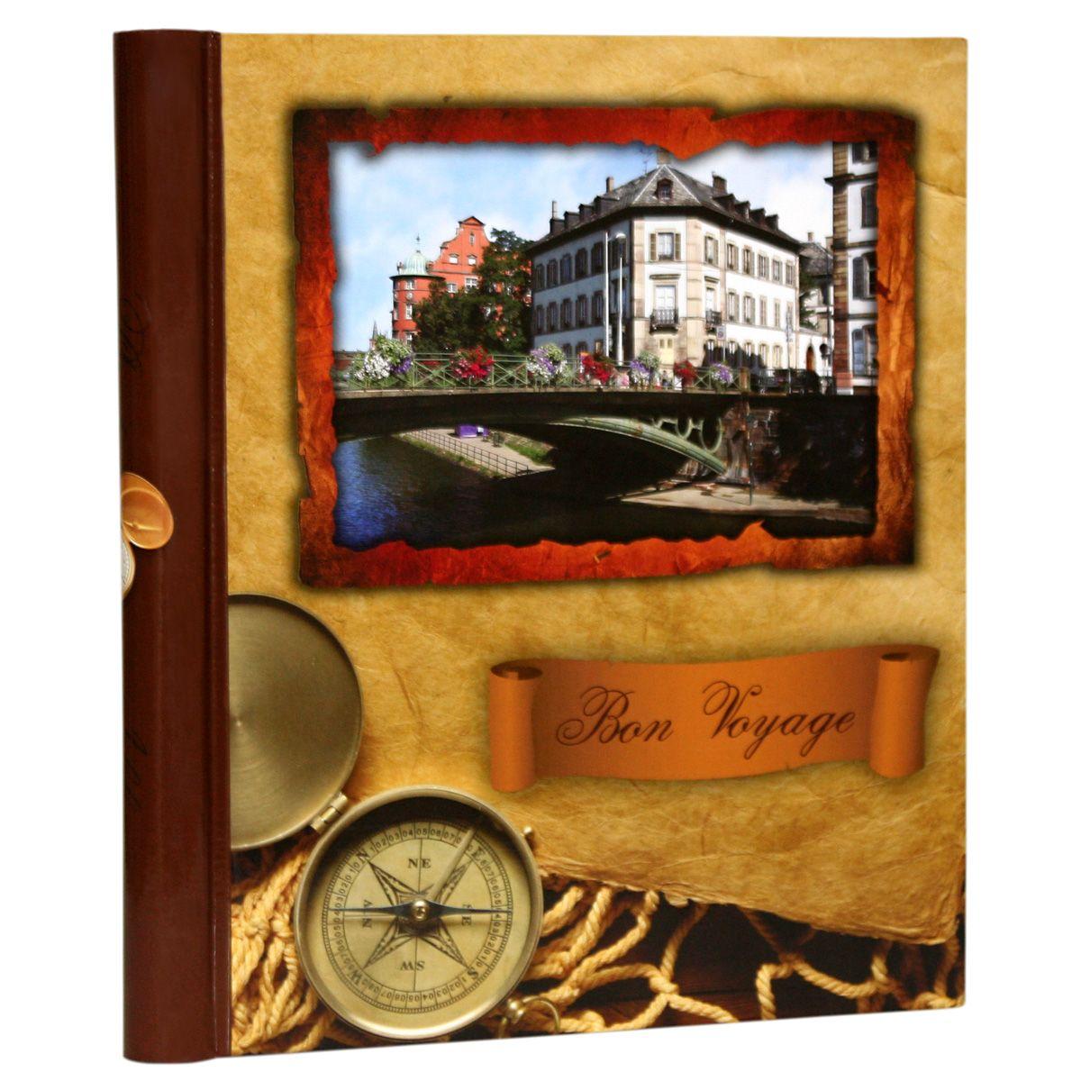 Фотоальбом Pioneer Bon Voyage, 10 магнитных листов, цвет: коричневый, 23 х 28 см фотоальбом pioneer innocence 10 магнитных листов 32 см х 32 см