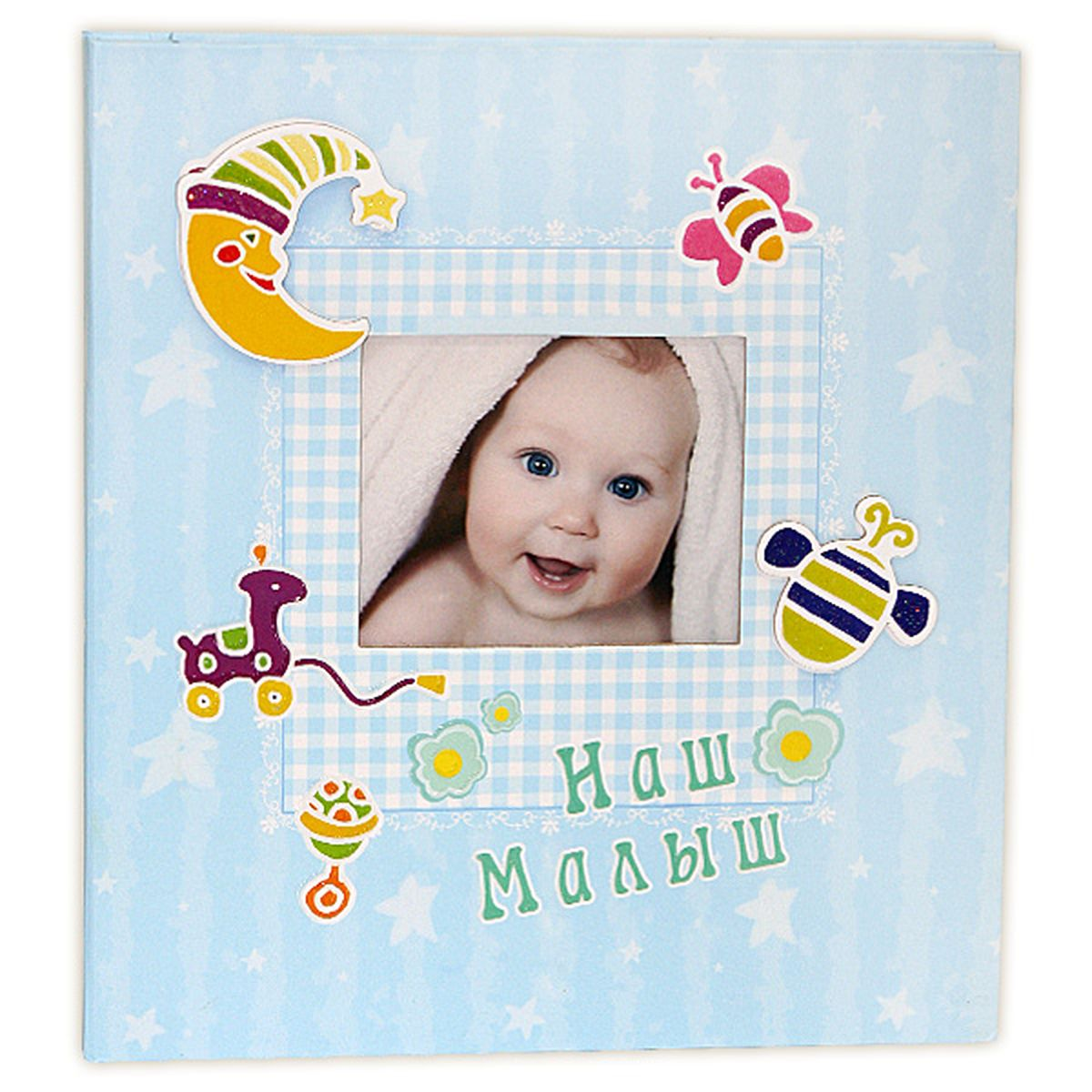 """Фотокнига """"Pioneer"""" позволит вам запечатлеть моменты жизни вашего ребенка. Изделие выполнено из картона и плотной бумаги,  может быть использовано для создания памятного альбома в технике скрапбукинг. В книге находится 8 страниц-анкет для заполнения, 24  магнитные страницы и рамка  для фото. Тип скрепления: спираль. Формат фотографий: 26 х 28 см. Материал страниц: бумага. Тип страниц: магнитный."""