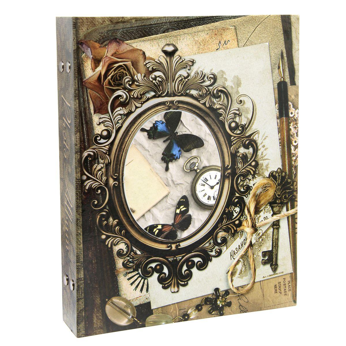 """Фотоальбом Pioneer """"Time To Remember"""" поможет красиво оформить ваши самые интересные фотографии. Обложка из толстого ламинированного картона оформлена оригинальным принтом. Фотоальбом рассчитан на 200 фотографий форматом 10 x 15 см. Внутри содержится блок из 50 листов с окошками из полипропилена, одна страница оформлена двумя окошками для фотографий. Такой необычный фотоальбом позволит легко заполнить страницы вашей истории, и с годами ничего не забудется. Тип обложки: картон. Тип листов: полипропиленовые. Тип переплета: высокочастотная сварка.  Материалы, использованные в изготовлении альбома, обеспечивают высокое качество хранения ваших фотографий, поэтому фотографии не желтеют со временем."""