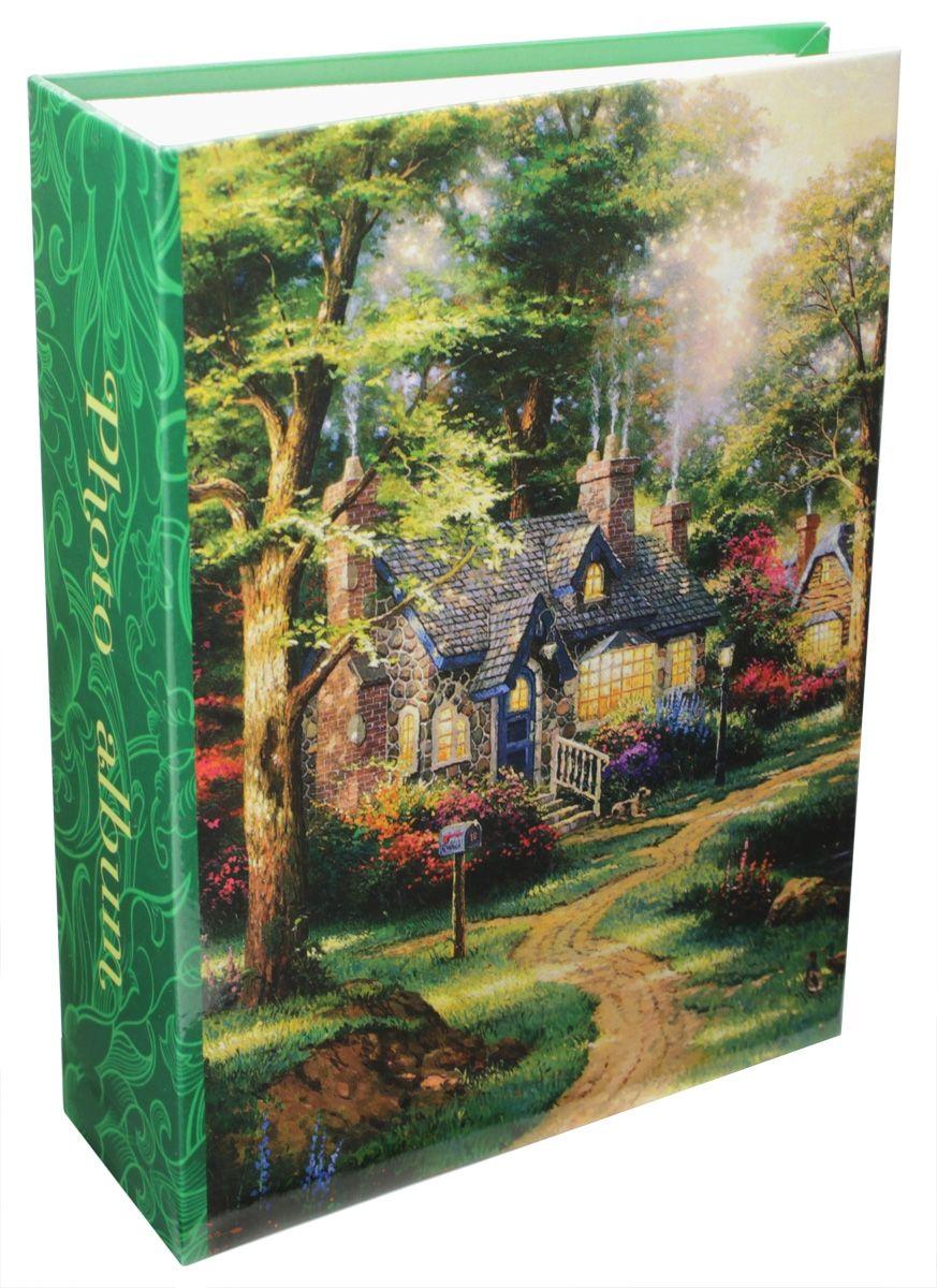 """Фотоальбом Pioneer """"4 Seasons"""", 100 фотографий, 10 х 15 см, цвет: зеленый 46282 LM-4R100"""