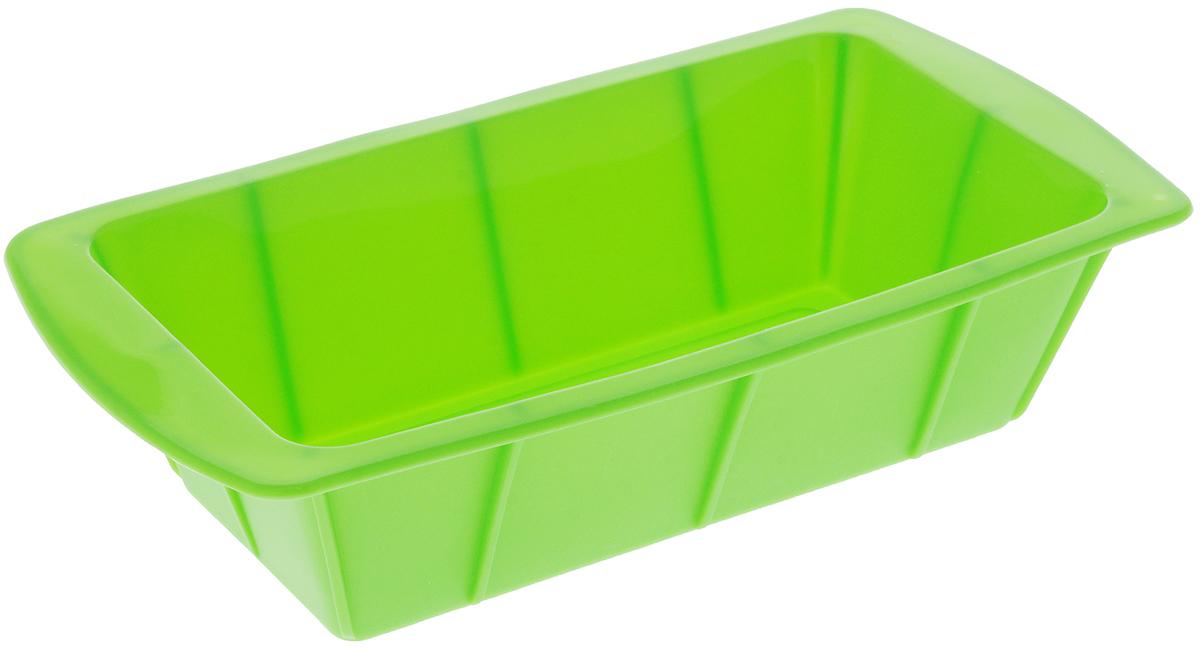 Форма для выпечки Paterra, силиконовая, цвет: зеленый, 25 х 13 х 6,5 см402-440_зеленыйФорма для выпечки Paterra изготовлена из высококачественного силикона. Стенки формы гнутся,что позволяет легко достать готовую выпечку и сохранить аккуратный внешний вид блюда. Силикон - материал, который выдерживает температуру от -40°С до +250°С. Изделия из силикона очень удобны виспользовании: пища в них не пригорает и не прилипает к стенкам, форма легко моется. Приготовленное блюдоможно очень просто вытащить, просто перевернув форму, при этом внешний вид блюда не нарушится. Изделиеобладает эластичными свойствами: складывается без изломов, восстанавливает свою первоначальную форму.Порадуйте своих родных и близких любимой выпечкой в необычном исполнении. Размер формы: 25 х 13 х 6,5 см.