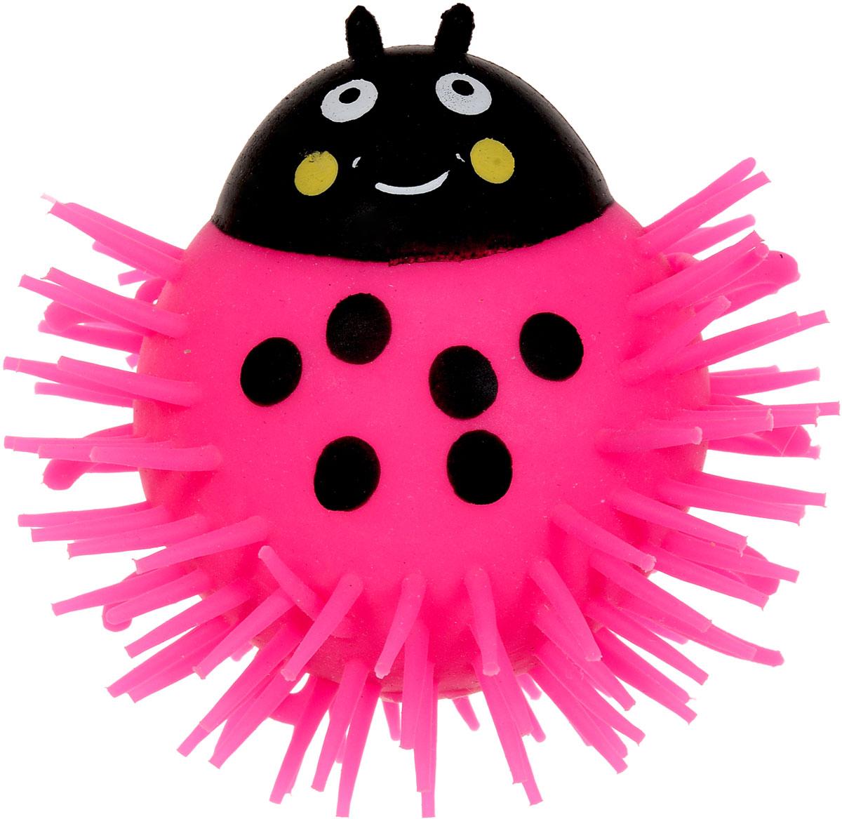 1TOY Игрушка-антистресс Ё-Ёжик Жук цвет розовый 1toy игрушка антистресс ё ёжик инопланетянин одноглазый цвет оранжевый