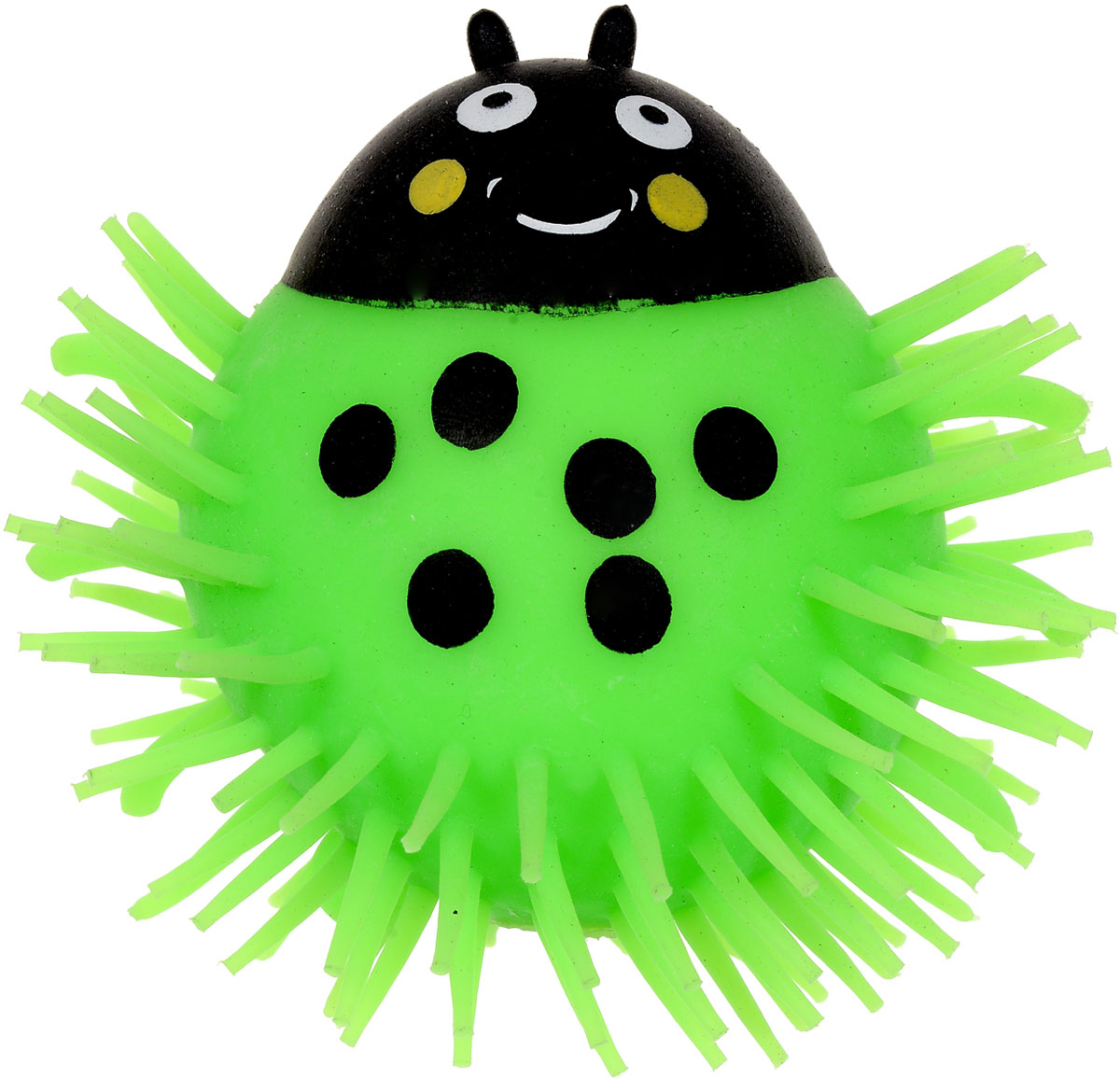 1TOY Игрушка-антистресс Ё-Ёжик Жук цвет зеленый техника ё ёжик со светомт56556