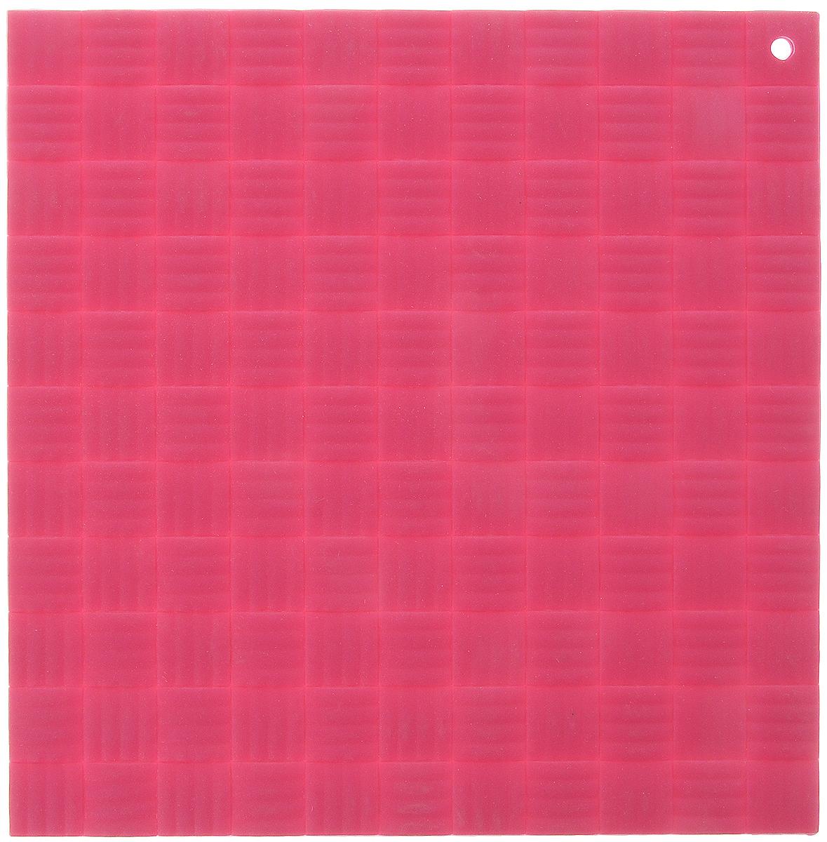 Подставка под горячее Paterra, силиконовая, цвет: малиновый, 17,5 х 17,5 см402-499_малиновыйПодставка под горячее Paterra изготовлена из силикона и оснащена специальным отверстием для подвешивания. Материал позволяет выдерживать высокие температуры и не скользит по поверхности стола.Каждая хозяйка знает, что подставка под горячее - это незаменимый и очень полезный аксессуар на каждойкухне. Ваш стол будет не только украшен яркой и оригинальной подставкой, но и сбережен от воздействия высоких температур.