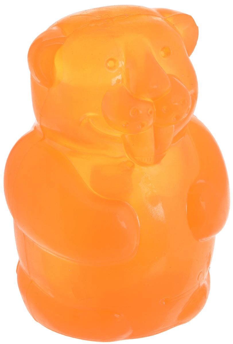 Игрушка для собак Kong Бобер, большая, с пищалкой, цвет: оранжевый, высота 9,5 см игрушка для собак kong регби с пищалкой цвет прозрачный фиолетовый 18 х 9 х 9 см