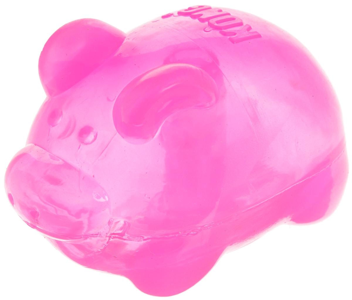 Игрушка для собак Kong . Свинья, средняя, с пищалкой, цвет: розовый, высота 7 см игрушка для собак kong регби с пищалкой цвет прозрачный фиолетовый 18 х 9 х 9 см