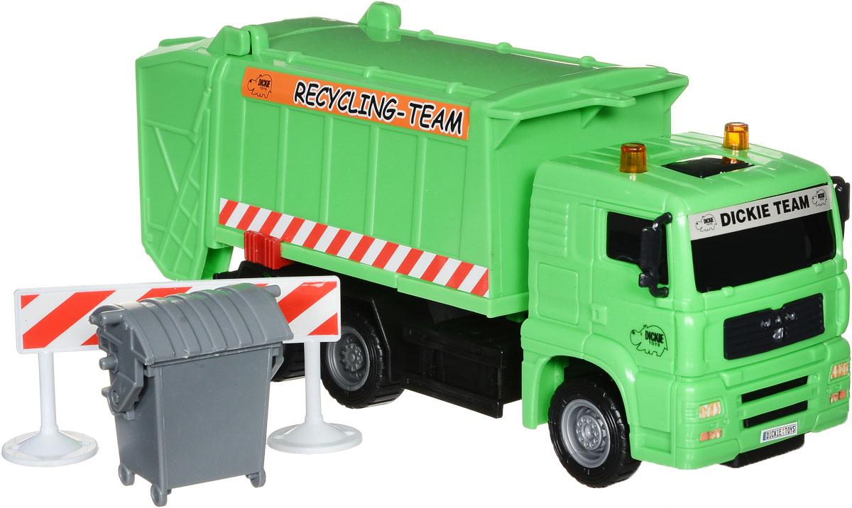 Dickie Toys Мусоровоз MAN цвет зеленый мусоровоз orion камакс мусоровоз 765 разноцветный в ассортименте