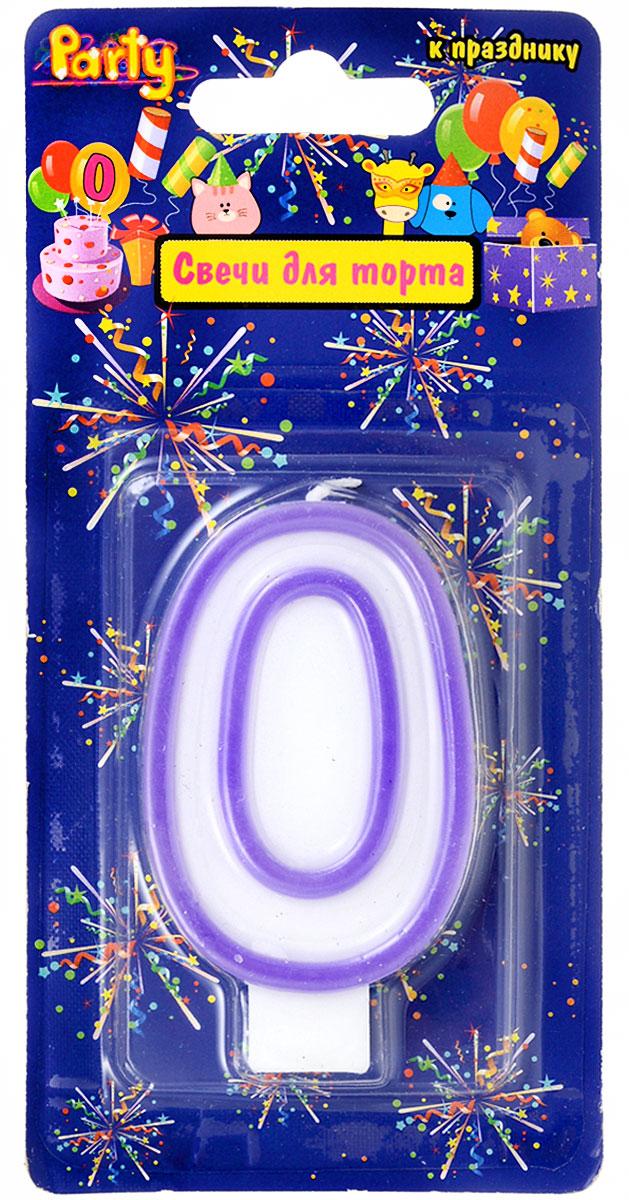 Action! Свеча-цифра для торта 0 лет цвет фиолетовый свеча q20pr u11 применяемость