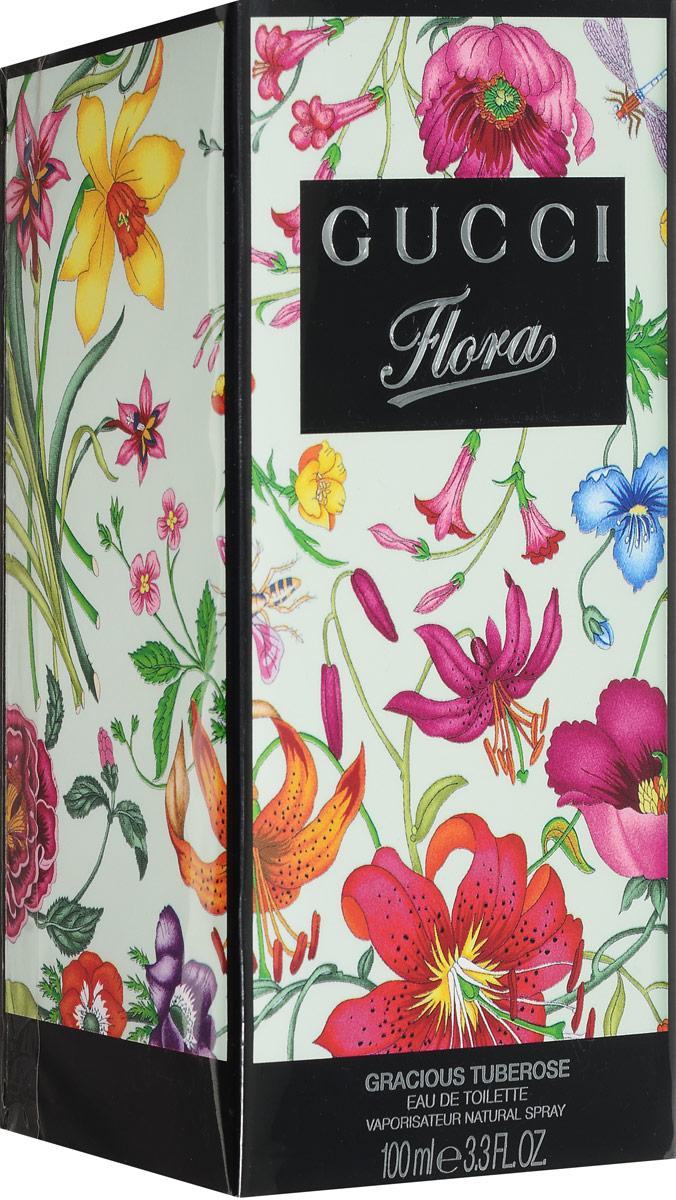 Gucci Туалетная вода Flora Gracious Tuberose, 100 мл0737052522661Данная композиция представляет опьяняющий аромат туберозы. Она обязательно понравится тем женщинам, которые предпочитают белые цветы. В продаже парфюм появился в 2012 году. Композиция больше подходит для использования в вечернее время. Сам цветок тубероза является ночным. Его насыщенный запах сделает роскошным ваш образ очаровательной леди. Вы станете настоящей королевой ночи.Верхняя нота: Листья Фиалки Персик.Средняя нота: Тубероза.Шлейф: Цитрус Белый кедр.Аромат создан вокруг цветка соблазна и дерзости - туберозы.Дневной и вечерний аромат.