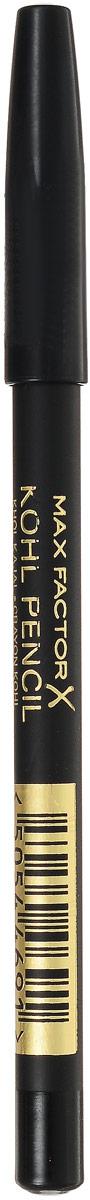 Карандаш для глаз Max Factor, тон №020, цвет: черный max factor карандаш для глаз liquid effect pencil тон 05 brown blaze цвет коричневый