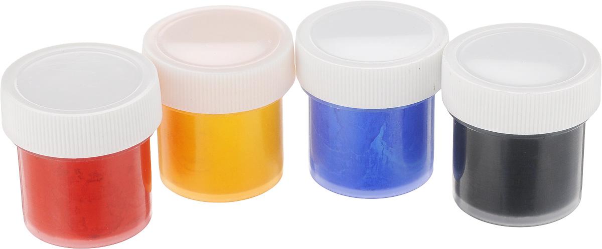 Набор акриловых красок для ткани Olki, 4 цвета405012Набор акриловых красок Olki предназначен для свободной росписи или нанесения трафаретного рисунка на различные виды тканей.Краски имеют яркие цвета и обладают хорошей светостойкостью и полностью совместимы между собой. Все краски могут разбавляться водой, но для достижения лучших результатов рекомендуется использовать специальный разбавитель. Время закрепления 3-5 минут. Стирать расписные изделия следует при 30-40°C с умеренной концентрацией нейтральных моющих средств. Цвета: красный, желтый, ультрамарин, черный.