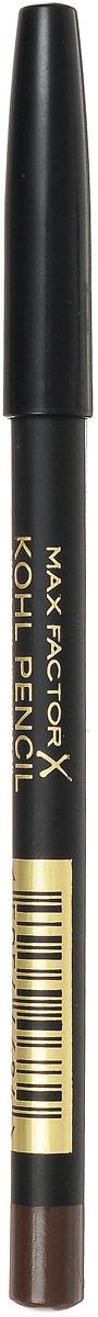 Max Factor Карандаш для глаз Kohl Pencil, тон №030 Brown, цвет: коричневый81480574Карандаш Kohl Pencil - твое секретное оружие для супер-сексуального взгляда. - Ультра-мягкий карандаш нежно касается века. - Достаточно плотный, чтобы рисовать тонкие линии. - Растушуй линию, чтобы добиться стильного неряшливого эффекта. Идеален для создания сексуального эффекта смоки айз.Протестировано офтальмологами и дерматологами. Подходит для чувствительных глаз и тех, кто носит контактные линзы.1. Смотри вниз и осторожно растяни глаз указательным пальцем. 2. Проведи аккуратную мягкую линию вдоль роста ресниц. 3. Карандаша Kohl pencil в сочетании с тушью будет достаточно, чтобы выделить глаза. 4. Наноси карандаш над тенями для более мягкого образа или под тенями, чтобы углубить их цвет. 5. Растушуй линию с помощью ватной палочки для эффекта смоки айз.