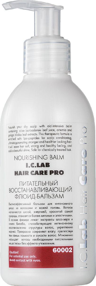 I.C.Lab Individual cosmetic Питательный восстанавливающий флюид-бальзам 150 мл60002Питательный восстанавливающий флюид-бальзам глубокого действия предназначен для сухих, ломких, тусклых и окрашенных волос. Экстракт хлопка очищает и тонизирует, улучшает кровообращение кожи головы, повышает стойкость цвета, питает корни волос. Флюид существенно облегчает расчесывание, обладает кондиционирующим эффектом, подготавливает волосы к стайлингу, придает шелковистость, блеск и делает волосы послушными.