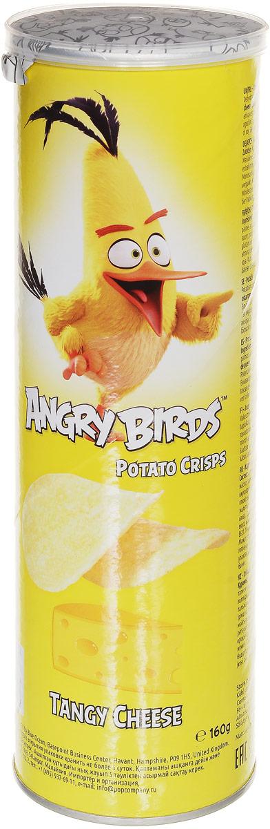 Angry Birds чипсы со вкусом сыра, 160 г конфэшн минутки вафли со вкусом сливок айриш крим 165 г
